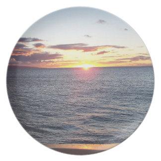 Den Maui solnedgången pläterar Tallrik