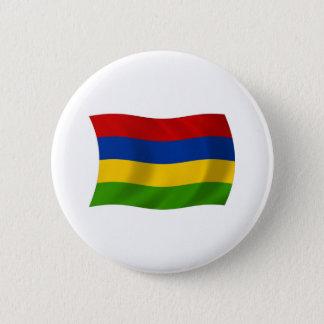 Den Mauritius flagga knäppas Standard Knapp Rund 5.7 Cm