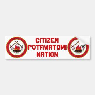 Den medborgarePotawatomi nationen förseglar Bildekal