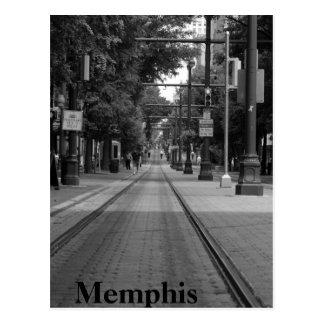 Den Memphis trolleyen spårar Vykort