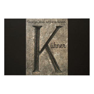Den mer intensiva precepten av Wilhelm Kühner Trätavla