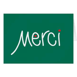 Den Merci julen tackar dig i något språk Hälsningskort