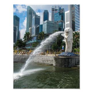 Den Merlion statyn, Singapore - fototryck