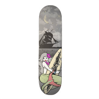 Den Mermaide skridskon stiger ombord Skateboard Bräda 20 Cm