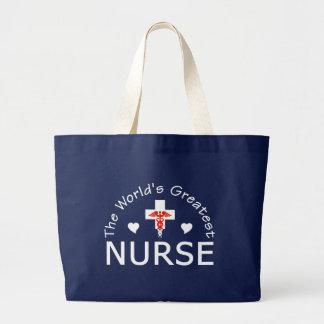 Den mest underbara sjuksköterskan hänger lös - väl jumbo tygkasse