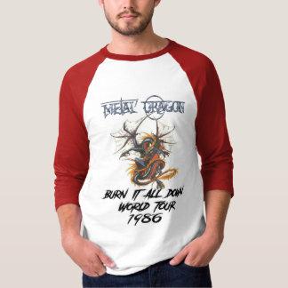 Den metalldrakevärlden 1986 turnerar t-shirts