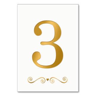 Den metalliska eleganta ljusa guld- fauxen bordsnummer