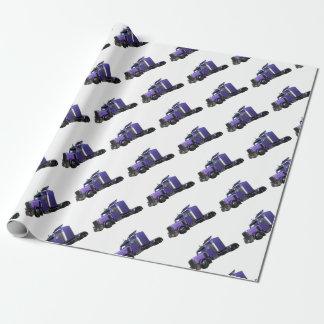 Den metalliska purpurfärgade halva lastbilen i tre presentpapper