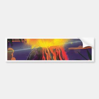 Den Mexico vulkan reser affischen Bildekal