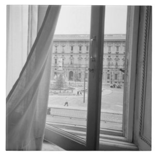 Den Milano italien, beskådar från La Scala operafö Kakelplatta