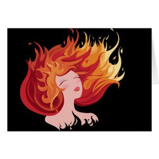 Den Minimalist brännheta varma rödhåriget avfyrar Hälsningskort