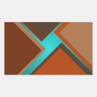 Den Minimalist hösten för konstmodeturkos färgar 4 Rektangulärt Klistermärke