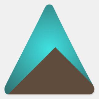Den Minimalist hösten för konstmodeturkos färgar 4 Triangelformat Klistermärke