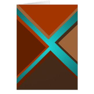 Den Minimalist hösten för konstmodeturkos färgar 5 Hälsningskort