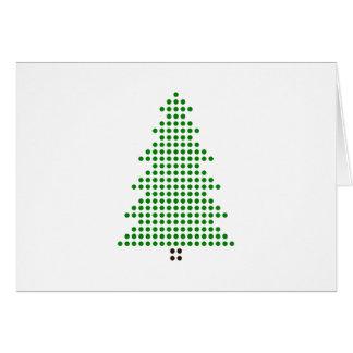 Den Minimalist julkortet pricker stiljulgranen Hälsningskort