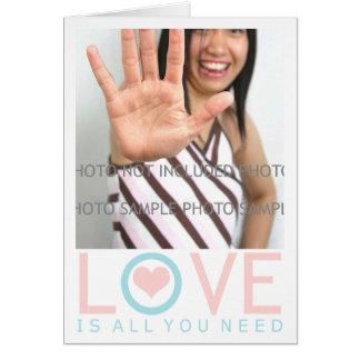 Den Minimalist valentinen Cards mallen med fotoet Hälsningskort