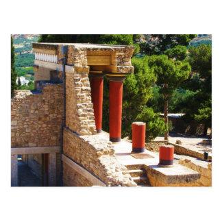 Den Minoan slotten av den Knossos bilden Vykort