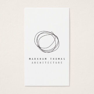 Den minsta och moderna formgivare klottrar visitkort