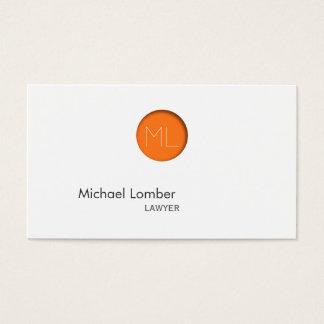 Den minsta orangen pricker Monogramvisitkorten Visitkort