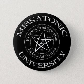 Den Miskatonic universiteten knäppas Standard Knapp Rund 5.7 Cm