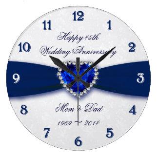 Den mjuka bröllopsdagen för damast 45th tar tid på stor klocka