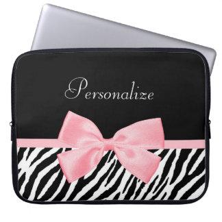 Den mjuka chic zebra tryck tänder flickaktigt - datorskydd
