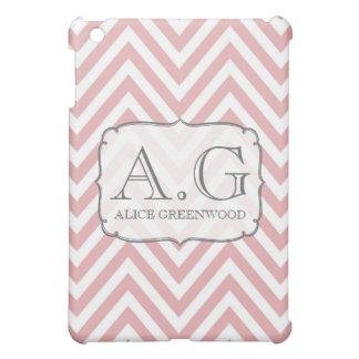 Den mjuka rosa kortkortet för sparreMonogram IPAD  iPad Mini Fodral