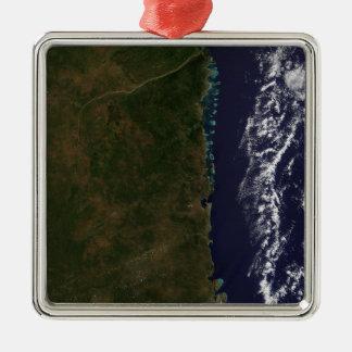 Den Mocambique kusten Julgransprydnad Metall