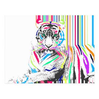 den moderiktiga färgglada vibrerande vykort