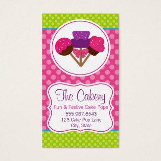 Den moderiktiga polkaen pricker design för bageri visitkort