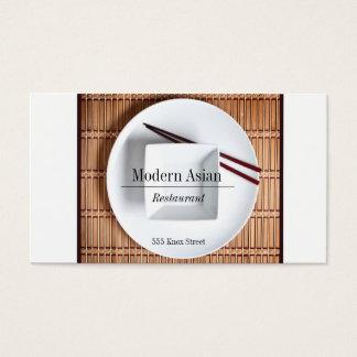 Den moderna asiatiska restaurangvisitkorten tänder visitkort