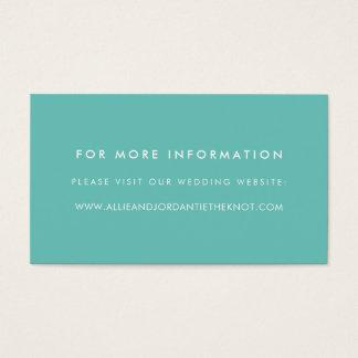 Den moderna bröllopwebsiten Cards den | bassängen Visitkort