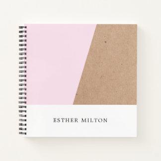 Modern Elegant Printed Kraft Rose Geometric