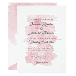 Den moderna enkla vattenfärgen tvättar rosor 12,7 x 17,8 cm inbjudningskort