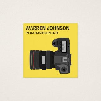 Den moderna fotografen QR kodifierar Fyrkantigt Visitkort