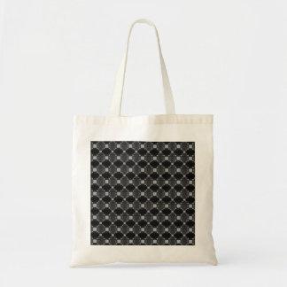 Den moderna grå färgdiamanten och kvadrerar mönste budget tygkasse