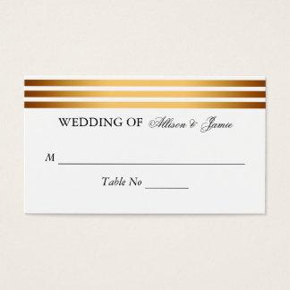 Den moderna guldsvarten görar randig gifta sig set av standard visitkort