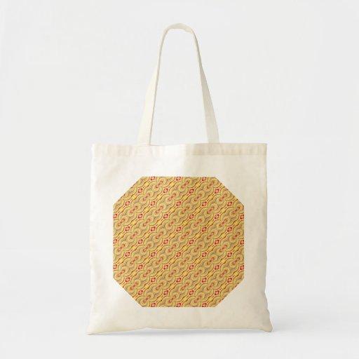 Den moderna gult och bruntet kedjar mönster kassar