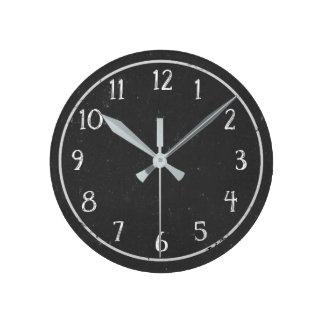 Den moderna lantliga svart tavlarundan för fauxen rund klocka