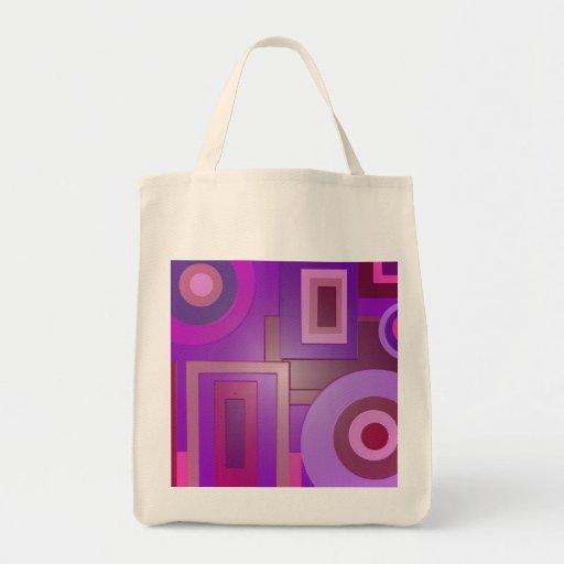 Den moderna lilan formar abstrakt tote bags