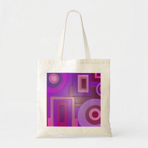 Den moderna lilan formar abstrakt tygkasse
