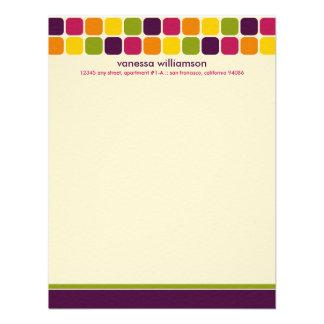 Den moderna mosaiska anpassningsbarlägenheten note inbjudningskort