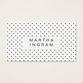 Den moderna polkaen pricker design visitkort