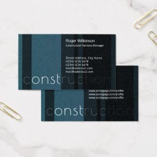 Den moderna randen hårdnar blåttsvartlook visitkort