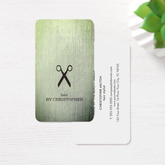 Den moderna strukturgröntsvarten Scissors Visitkort