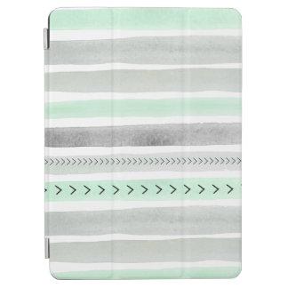 Den moderna vattenfärgen för Mintgråttvit målar iPad Air Skydd