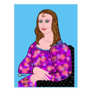 Den Mona Lisa tecknaden avbildar Vykort