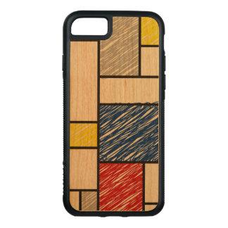 Den Mondrian minimalisten klottrar modkonstiphone Carved iPhone 7 Skal