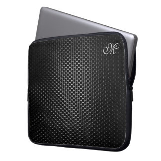 Den Monogrammed svart metallhögtalaren kopplar Laptop Datorskydd