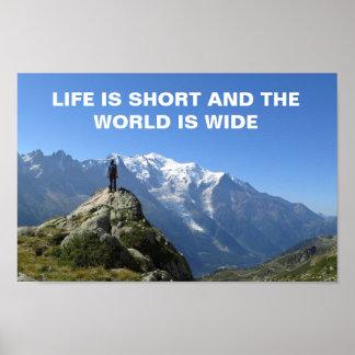 Den Mont Blanc alpernan reser Poster